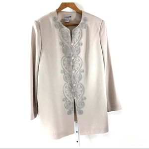 Adrianna Pappel Embroidered Lined Dress Jacket 16